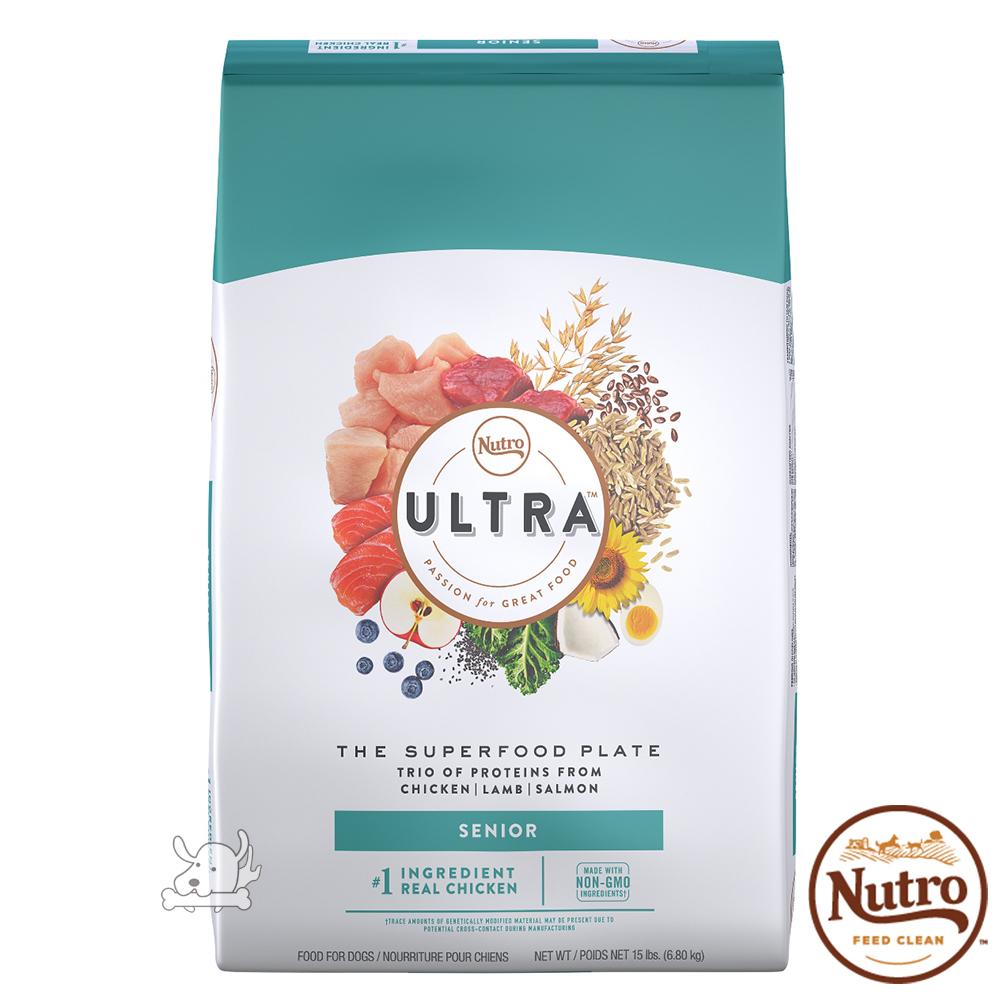 【Nutro 美士】Ultra 大地極品 高齡養生 配方 犬糧 15磅 X 1包