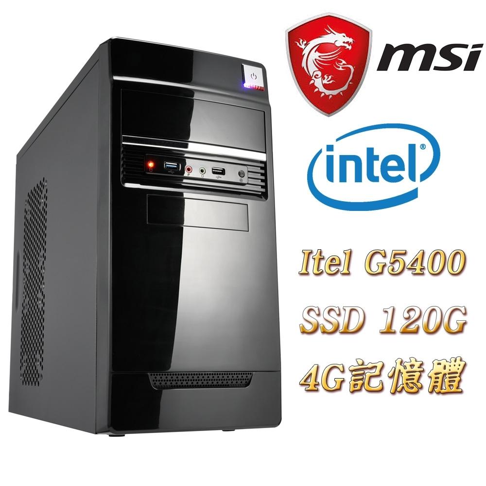 MSI微星H310平台(趙雲)G5400/4G/120G SSD/400W