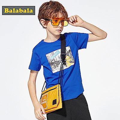 Balabala巴拉巴拉-城市旅行印花短袖T恤-男(2色)