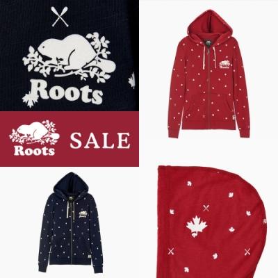 [時時樂限定] Roots 女裝加拿大國慶滿版印花連帽外套(兩色)