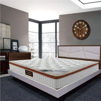 Albert艾柏 艾柏 正三線天絲乳膠PU護邊5尺雙人獨立筒床墊-150x188x30cm