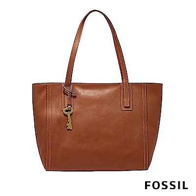 FOSSIL EMMA TOTE BROWN 托特包-咖啡