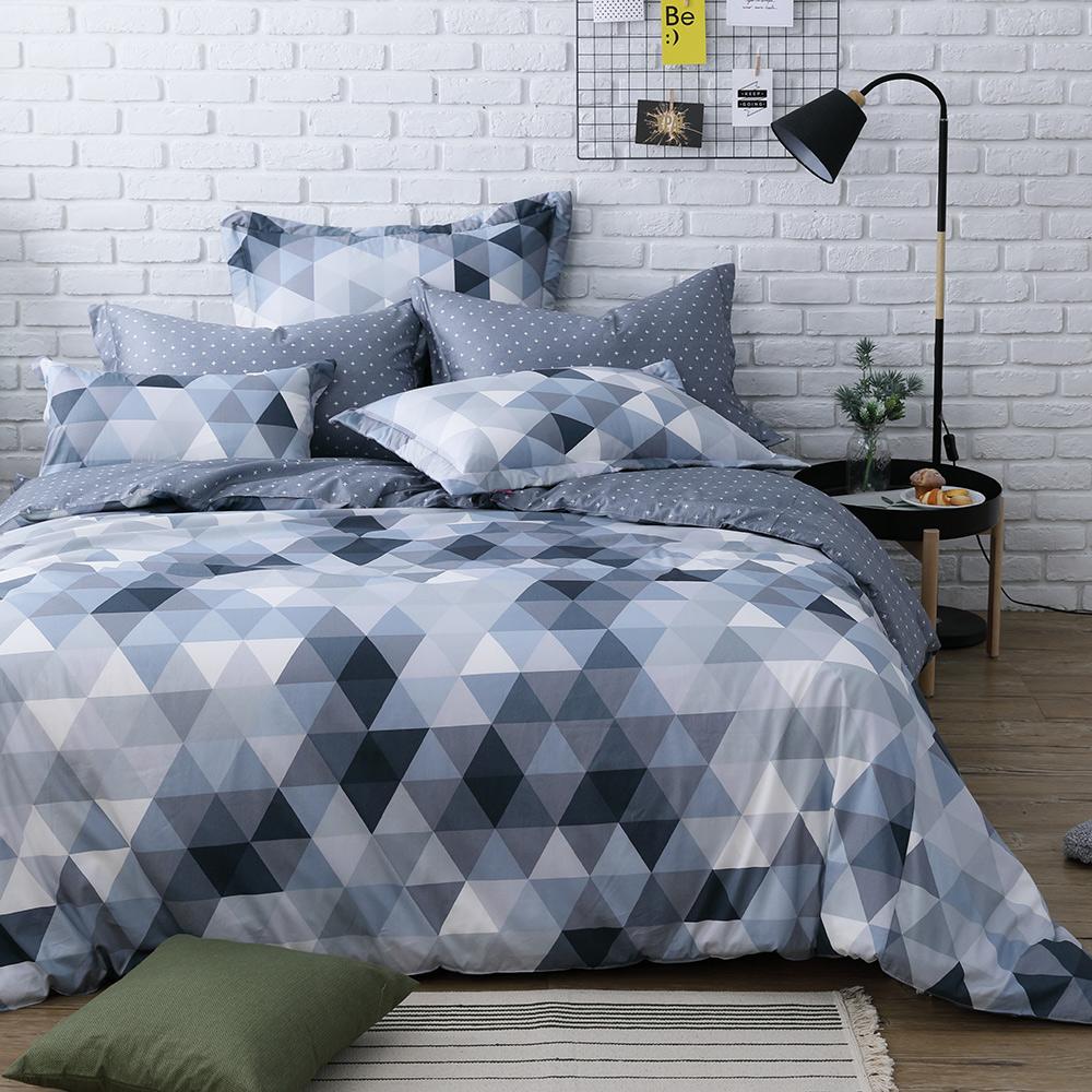 IN HOUSE-gray prism -200織紗精梳棉-兩用被床包組(加大)