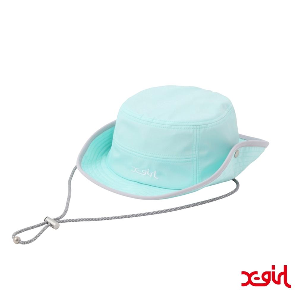 X-girl SAFARI HAT 潮流登山帽-藍