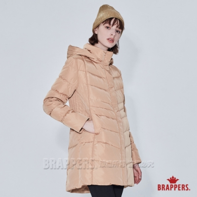BRAPPERS 女款 長版羽絨外套-橘