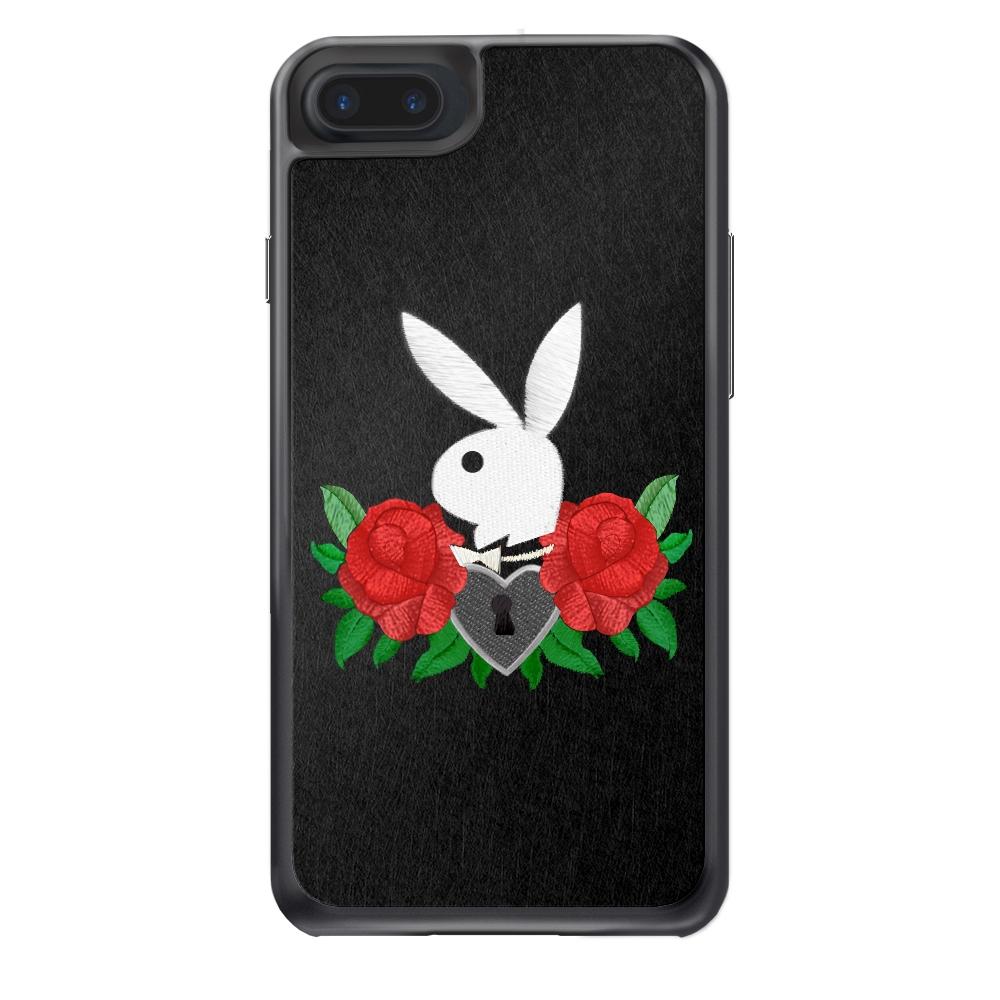 Playboy iPhone 7 Plus 精品手機防摔保護殼-玫瑰刺繡款