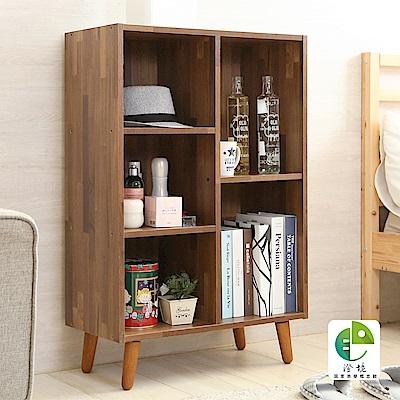 澄境 低甲醛開放五格書櫃/收納櫃/床頭櫃/茶几61x30x93cm-DIY