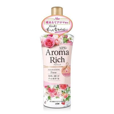 日本 Aroma Rich 衣物香氛柔軟精 520ml-粉色Diana