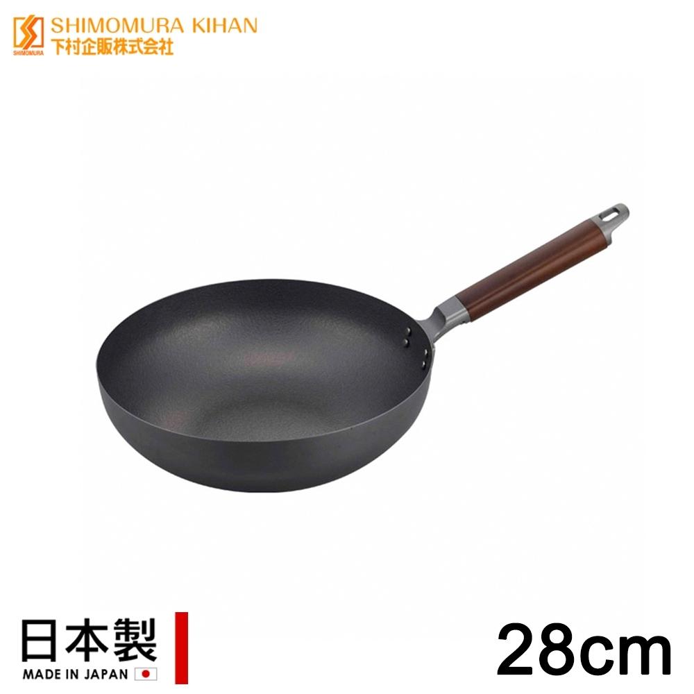 日本下村工業 日本製IH窒化鐵無塗層炒鍋28CM