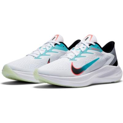NIKE 慢跑鞋 緩震 訓練 健身 運動鞋 男鞋 白 CJ0291100 ZOOM WINFLO 7