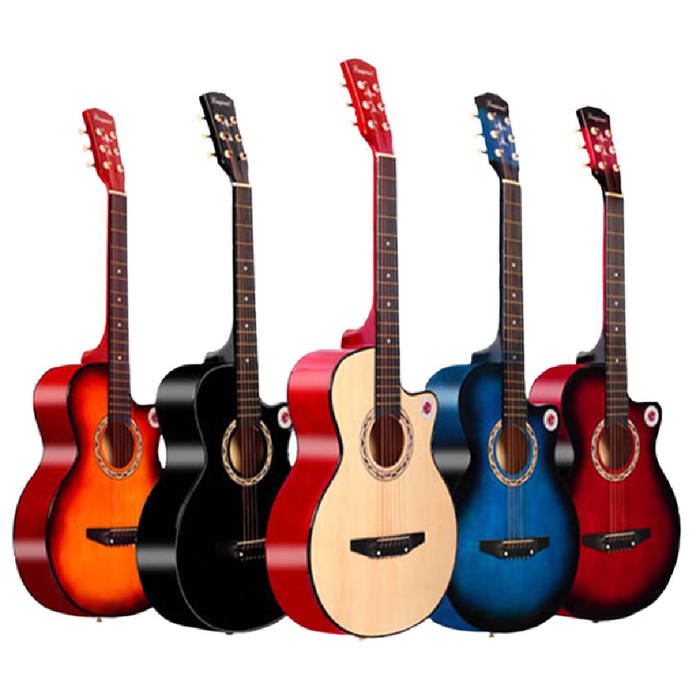 Lanjian 系列 38吋,缺角造型,民謠吉他,木吉他,琴袋+背帶+彈片+全配