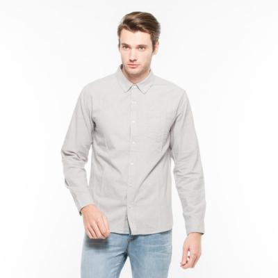Hang Ten - 男裝 - 都會拼色長袖襯衫 - 灰