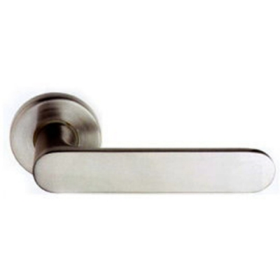LS-902 SN日規水平鎖60mm(銀色) 小套盤 木門 水平把手把手鎖 房門鎖 通道鎖