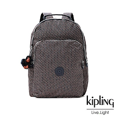 Kipling 復古圖騰印花後背包(大)