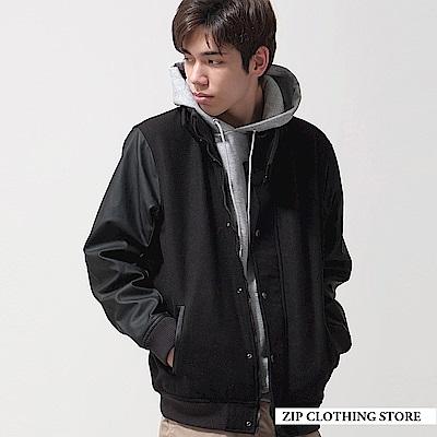 ZIP日本男裝 混羊毛連帽棒球外套(6色)