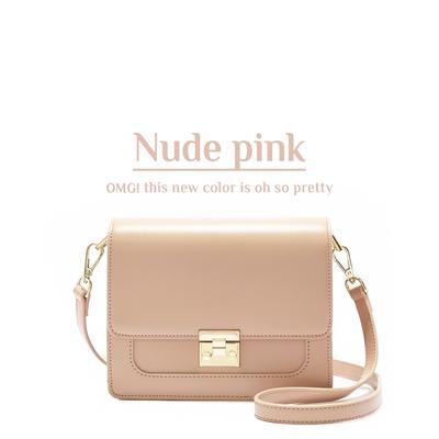 ANNA DOLLY 甜美細緻Tender夾層小方包 浪漫裸粉