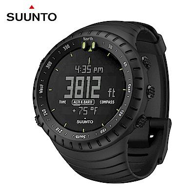 SUUNTO Core All Black 時尚設計戶外功能運動錶