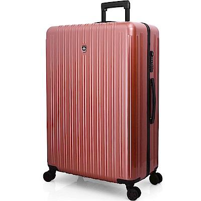 SWISSMOBILITY瑞動 經典雙線28吋PC耐撞TSA海關鎖行李箱/旅行箱 -玫瑰金