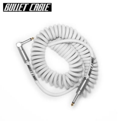 Bullet Cable 15CCW IL 捲捲樂器專用導線線材 3.75公尺 白色款