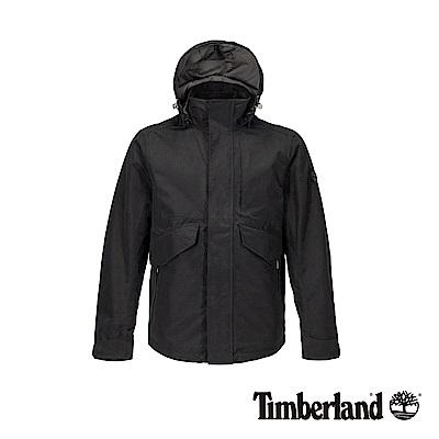 Timberland 男款黑色防水連帽三合一外套|A1WSZ