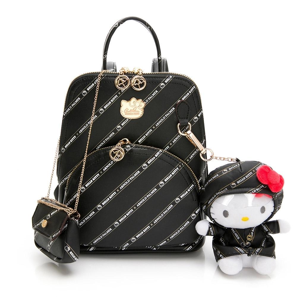 Hello Kitty聯名- 梯形後背包 Trendy Master系列-黑色