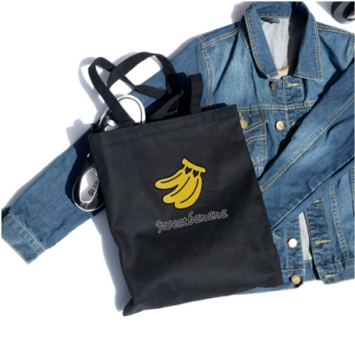 AmaZing 實用大容量水果印花拉鍊側背袋(2色任選)