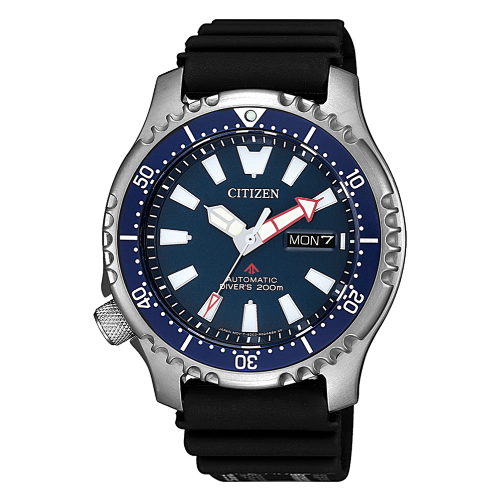 CITIZEN 遨遊天地機械腕錶-藍(NY0081-10L)/42mm @ Y!購物