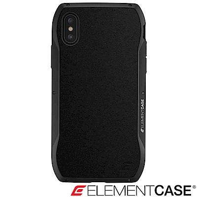 美國 Element Case iPhone XS / X Enigma旗艦真皮防摔殼-黑