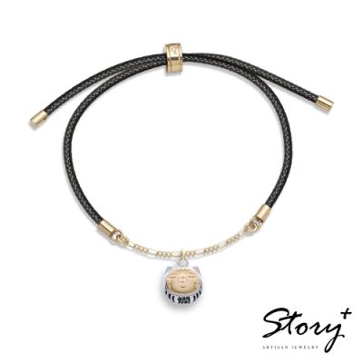 STORY故事銀飾-白爛貓經典系列-達摩爛爛純銀手鍊