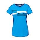 FILA 女款短袖圓領T恤-寶藍 5TET-1485-AB