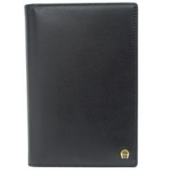 AIGNER 八卡相片證件卡片夾(黑)