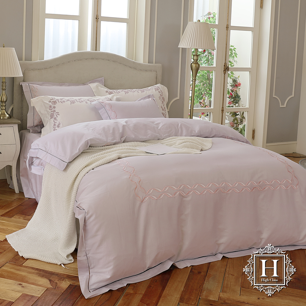 HOYA H Series寧靜夏日 特大四件式300織長纖細棉被套床包組