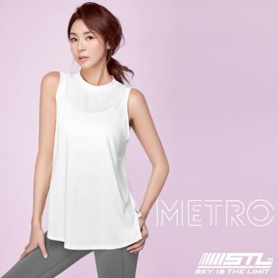 STL YOGA METRO SL 韓國瑜珈 地鐵Nashi 運動機能訓練無袖背心上衣 白