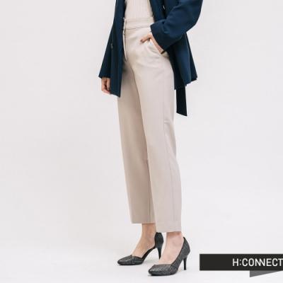 H:CONNECT 韓國品牌 女裝 - 質感素面西裝褲-卡其