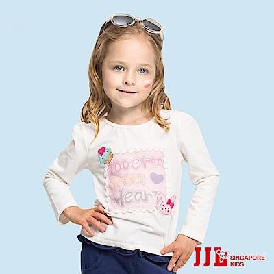 JJLKIDS  杯子蛋糕貼布蕾絲上衣(白色)