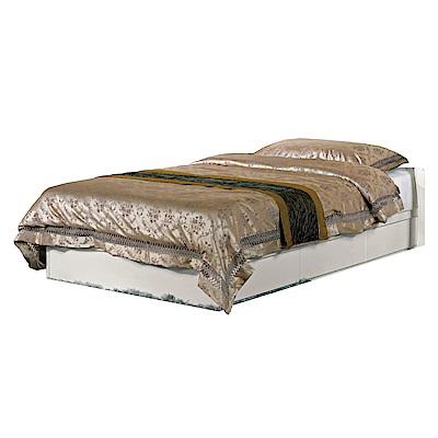文創集 琳達時尚白3.5尺單人抽屜床底(不含床墊)-106x187x25.5cm免組