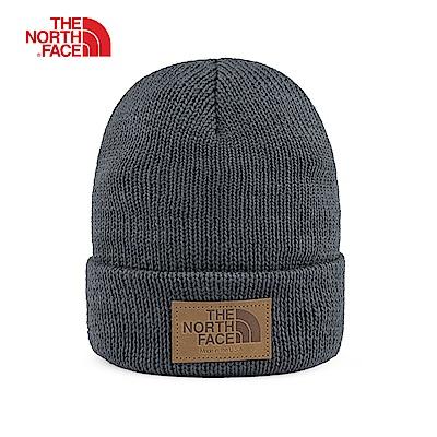 The North Face北面男女款深灰色休閒針織帽|3FJJ0C5