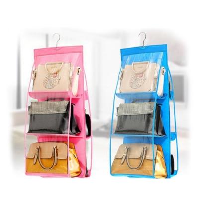 E-dot 衣櫥吊掛式多層透視防塵置包袋(二色選)