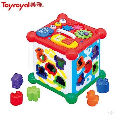 日本《樂雅 Toyroyal》聲光積木六面盒(<b>1</b>.5y以上)