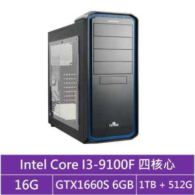 技嘉B365平台[火雲劍士]i3四核GTX1660S獨顯電玩機