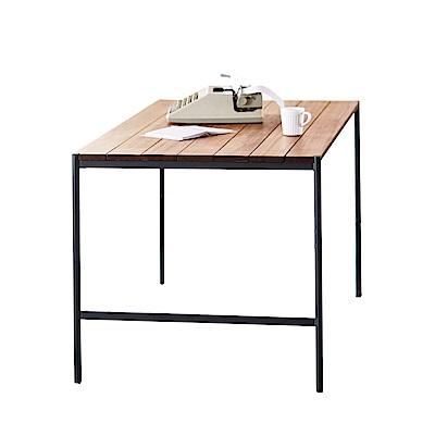 品家居 西布亞5尺雙色實木餐桌-150x80x74cm免組