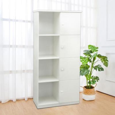 Boden-2.8尺四門左開放式塑鋼收納櫃(五色可選)-84x43x180cm