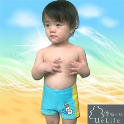 優衣生活ueLife 小男童五分泳褲 活力海洋(B723藍色)