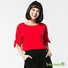bossini女裝-圓領短袖上衣30櫻桃紅