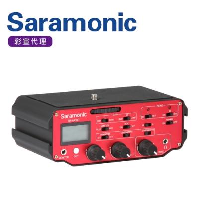 Saramonic楓笛 雙通道相機/攝影機LCD螢幕混音器 SR-AX107(彩宣公司貨)