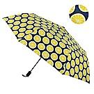 2mm 100%遮光 繽紛檸檬黑膠降溫手開傘 (黃色)