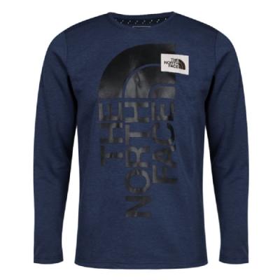 The North Face 男 FLASHDRY 長袖T恤 藍-NF0A3VU2H2G