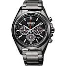 CITIZEN星辰 光動能超級鈦計時手錶(CA4394-54E)-黑/41mm