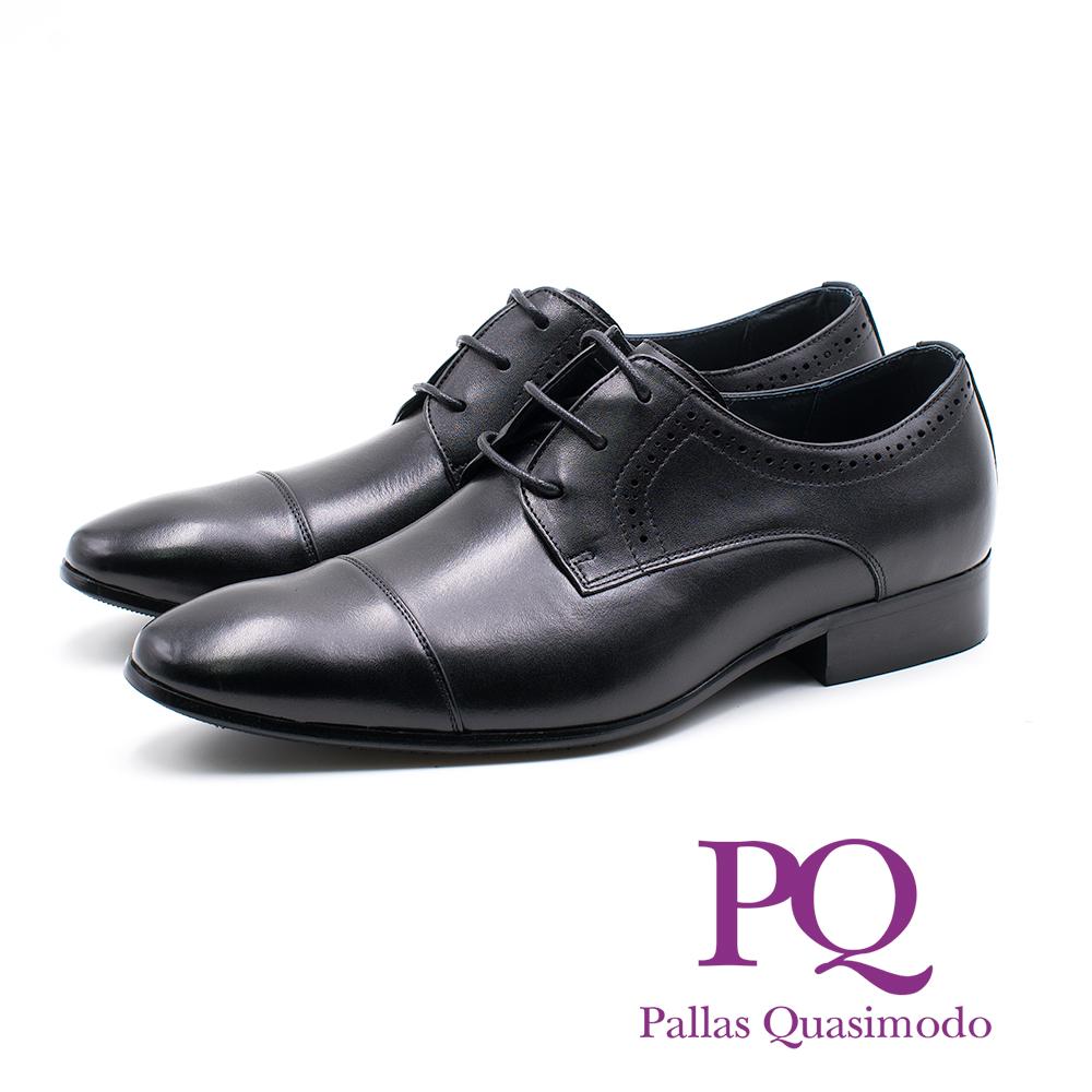 PQ 拼接感綁帶德比鞋 男鞋- 黑