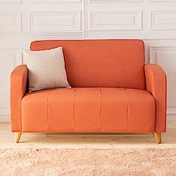 時尚屋 托斯卡尼雙人座實木骨架貓抓皮沙發 (共11色)